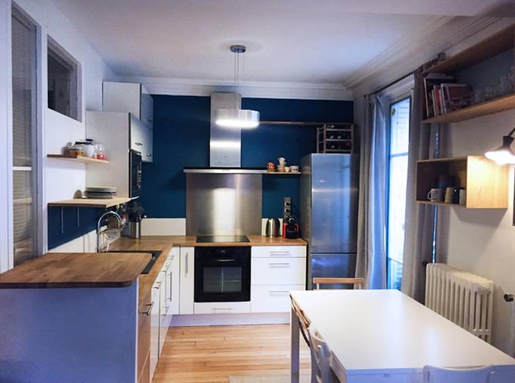 home staging pour une cuisine paris 17 par agn s dandine chichichic homify. Black Bedroom Furniture Sets. Home Design Ideas