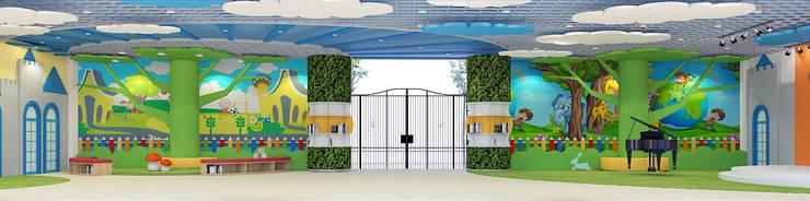 THIẾT KẾ NỘI THẤT TRƯỜNG HỌC 20 – 10 HÀ NỘI:  Phòng học/Văn phòng by công ty cổ phần xây dựng và nội thất BMC