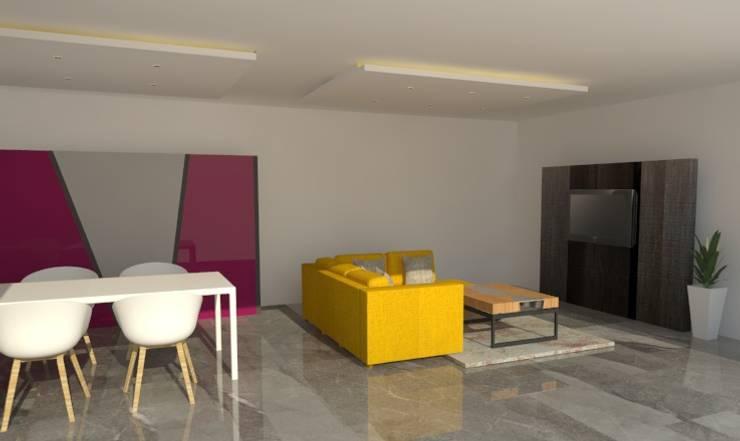 modern Living room by JOM Diseño de Espacios