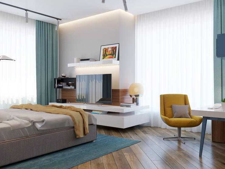 Dormitorios de estilo minimalista por Interior designers Pavel and Svetlana Alekseeva