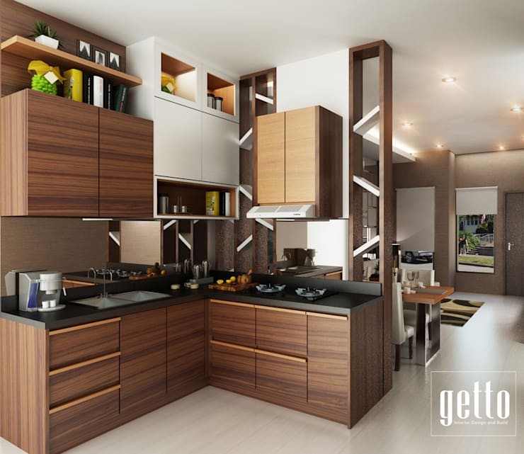 Mr. Asiang Metro Bandar Lampung:  Dapur built in by Getto_id