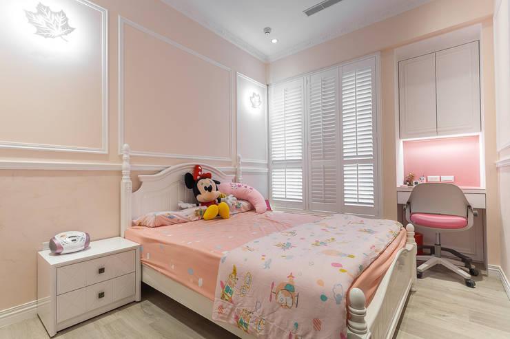 輕工業風溫馨小木屋:  嬰兒/兒童房 by 傑羅設計事業有限公司