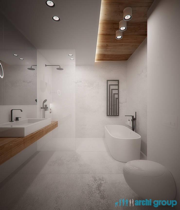 Projekt Wnętrz łazienek W Domu Jednorodzinnym W