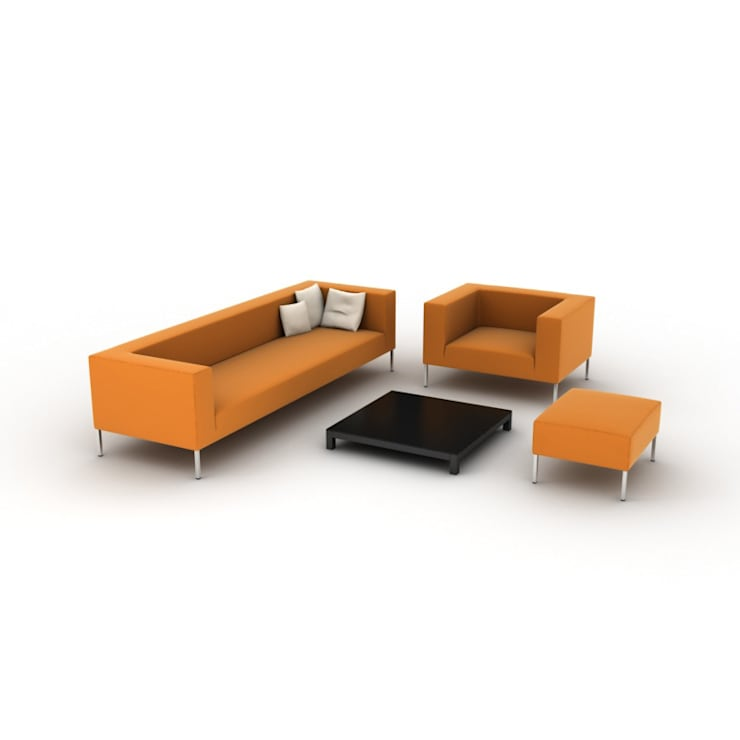 3D Furniture Rendering of Sofa:  Living room by CAD Outsourcing Services