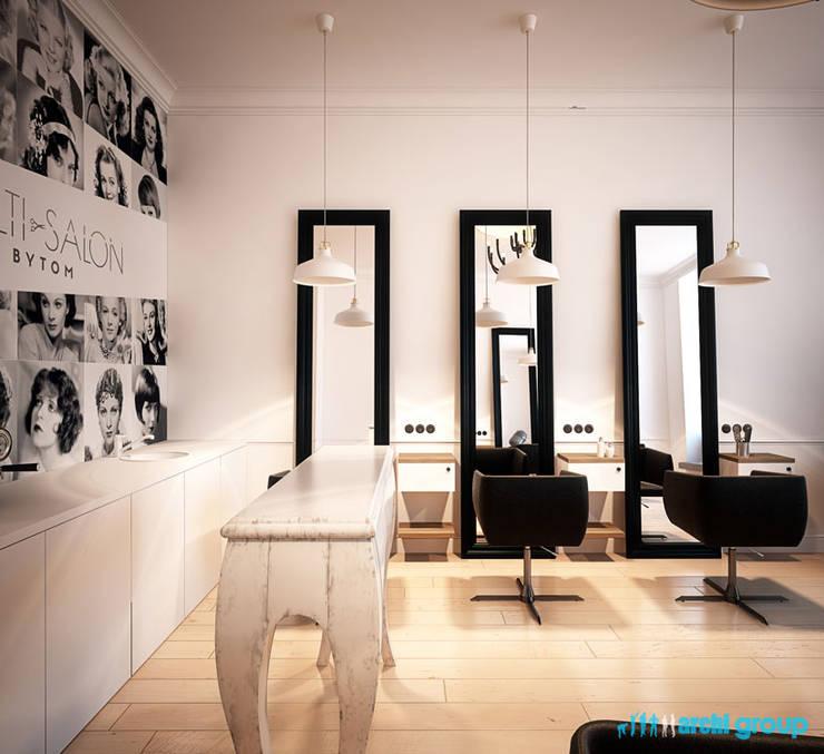 Projekt Wnętrza Salonu Fryzjerskiego Multi Salon W Bytomiu By Archi