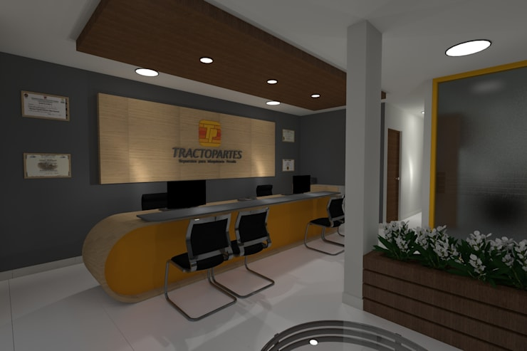 Diseño Oficina Comercial: Oficinas de estilo moderno por B+ Studio