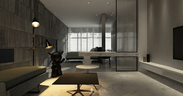 Taoyuan L House :  客廳 by 質覺制作設計有限公司