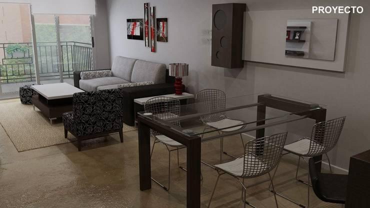 Proyecto integral de diseño interior:  de estilo  por Fernan Etcheverry Diseño Interior