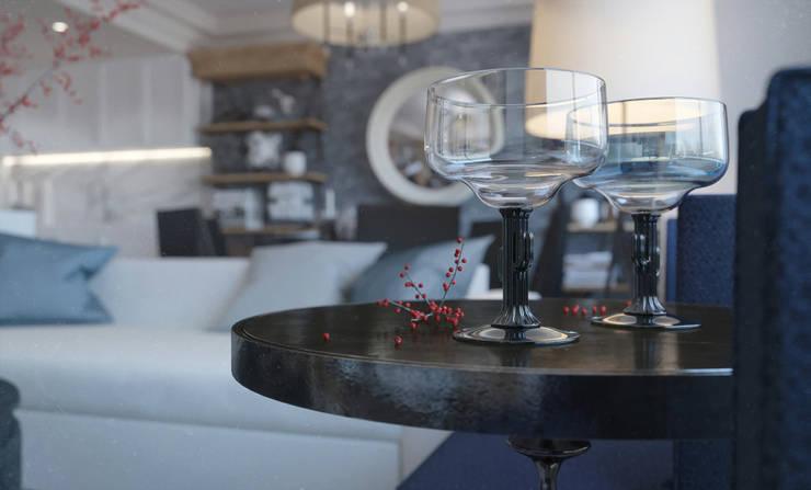 Living room: Гостиная в . Автор – KAPRANDESIGN