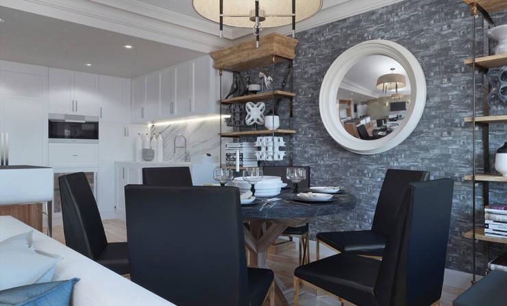 Dining room: Кухни в . Автор – KAPRANDESIGN