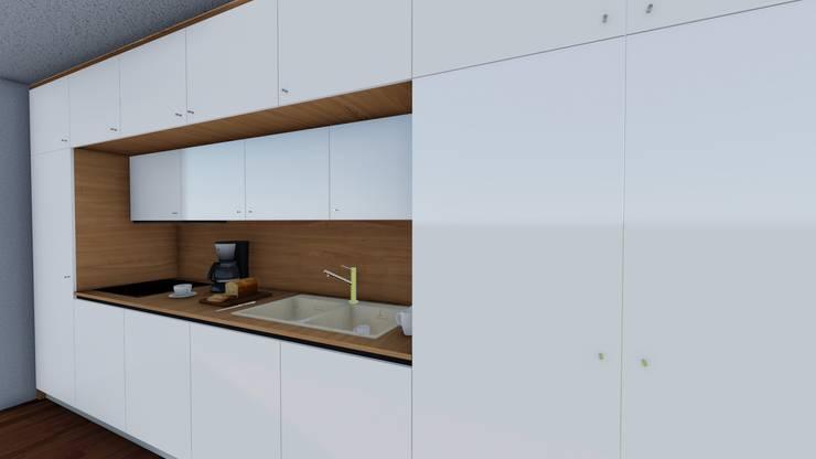 Muebles de cocina blancos, estéticos y funcionales