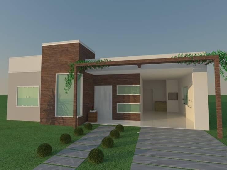 Casa simples e moderna por lana claudia kunz arquitetura for Casa moderna immagini