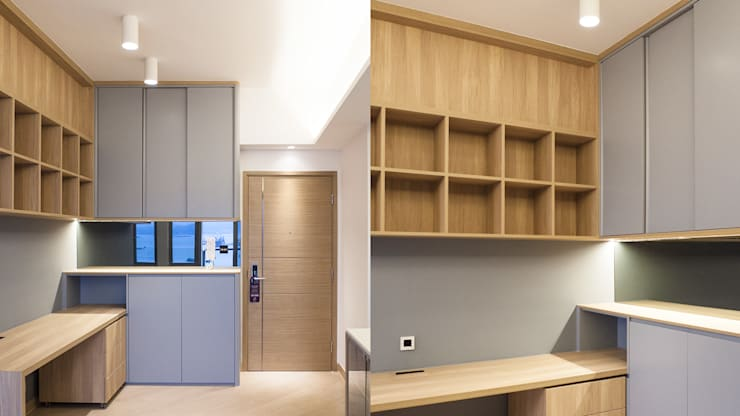 CENTURY LINK: minimalistic Study/office by BIGGERTHANstudio