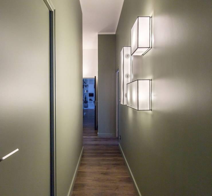 Projekty,  Korytarz, przedpokój zaprojektowane przez Brengues Le Pavec architectes
