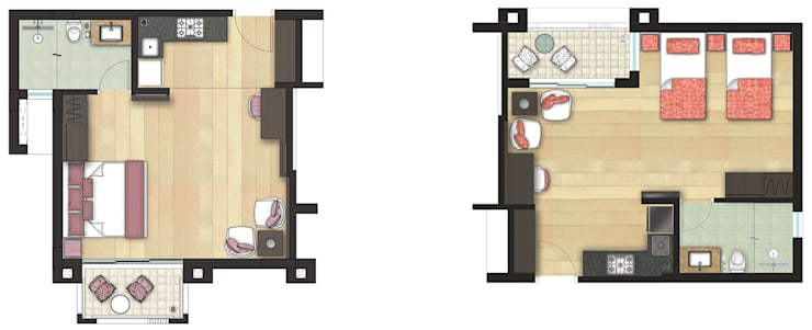 Rosewood Apartments, Haridwar:   by mold design studio