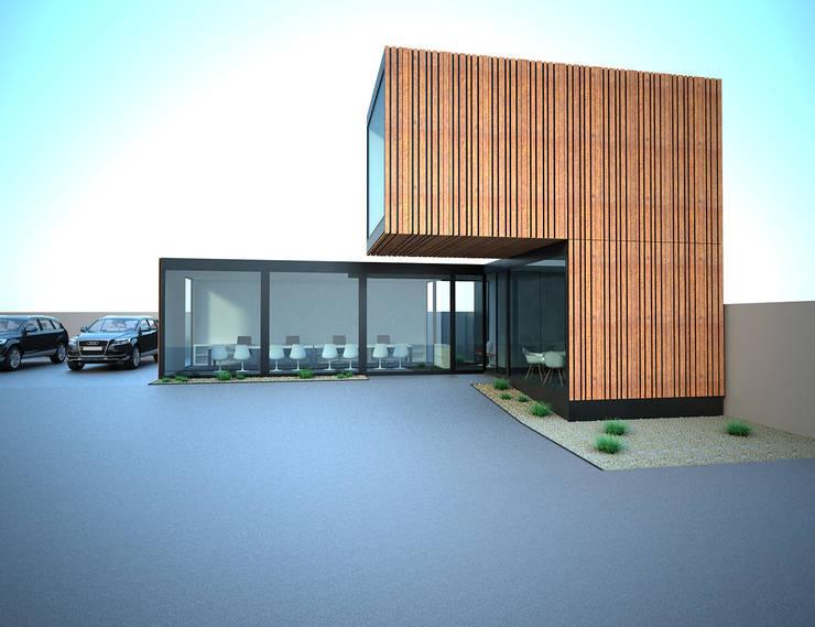 A forma projetada: Stands de automóveis  por Atelier 72 - Arquitetura, Lda
