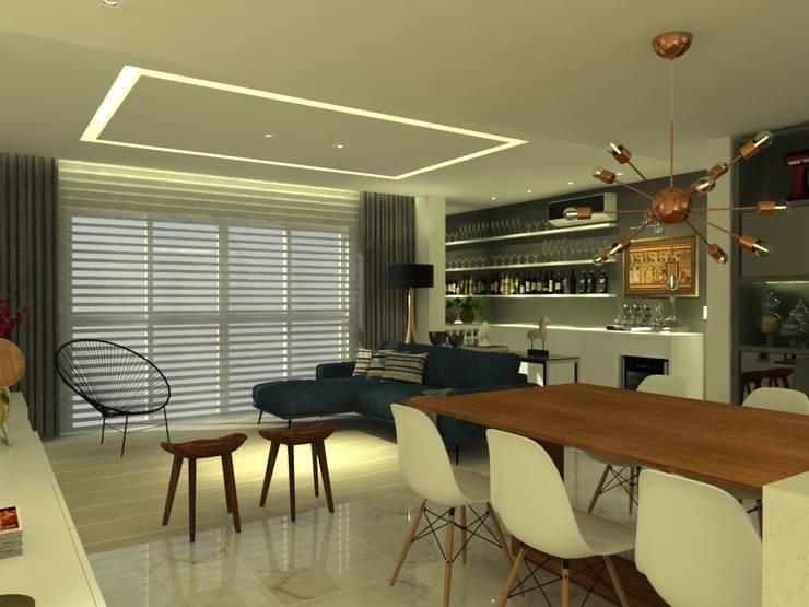APT NR - BLUMENAU SC: Cozinhas modernas por Arching - Arquitetos Associados