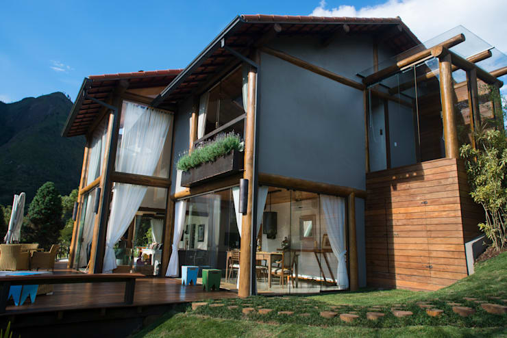 Casas de estilo rural por Giselle Wanderley arquitetura