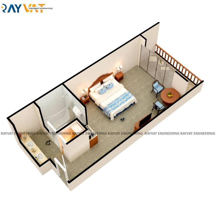 3D Floor Plan Design Services:   by Rayvat Rendering Studio