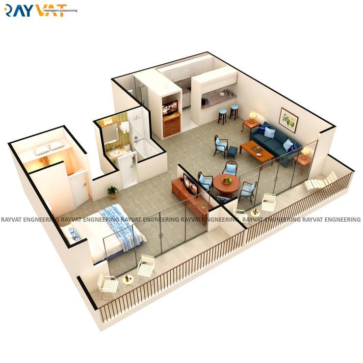 3D Interactive Floor Plans:   by Rayvat Rendering Studio