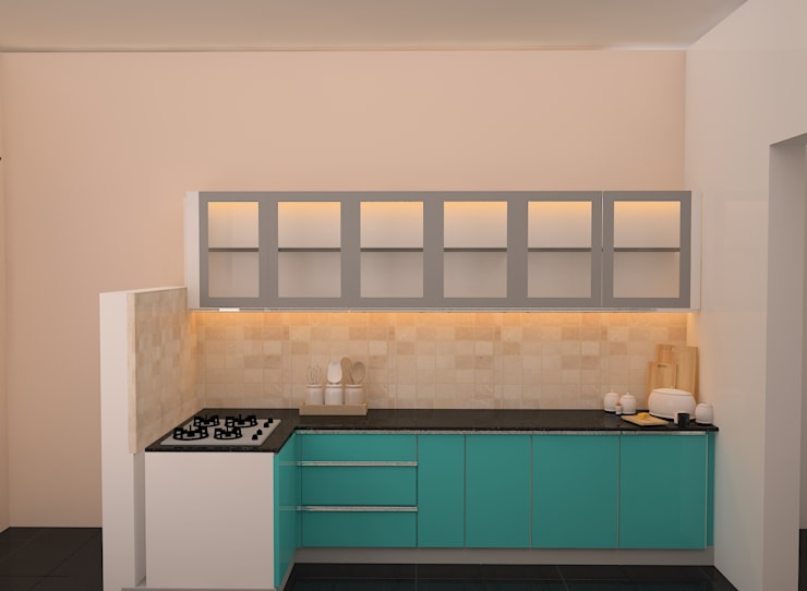 Ahad Euphoria, 2 BHK - Mr. Krishna:  Kitchen units by DECOR DREAMS