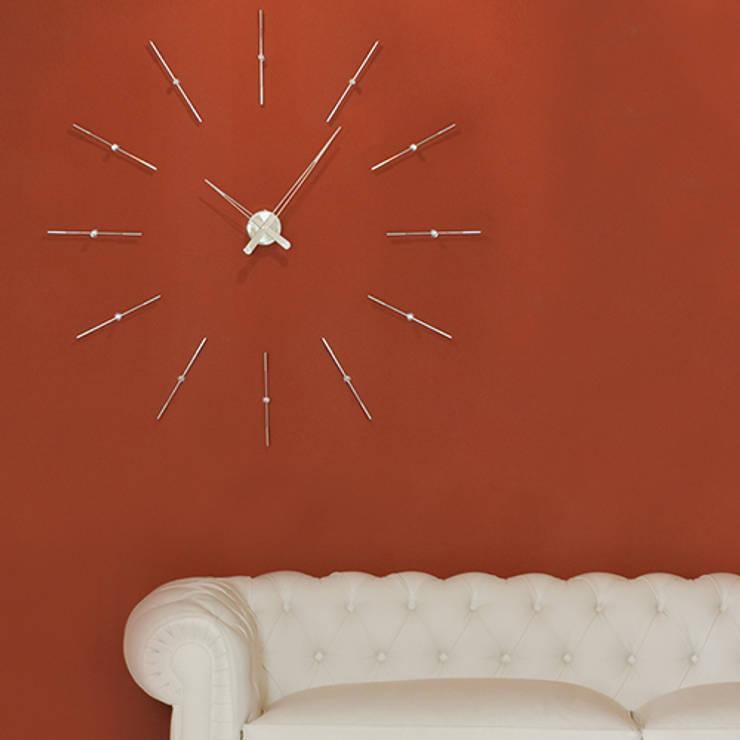 Nomon Merlin 12 I - Steel:  Living room by Just For Clocks