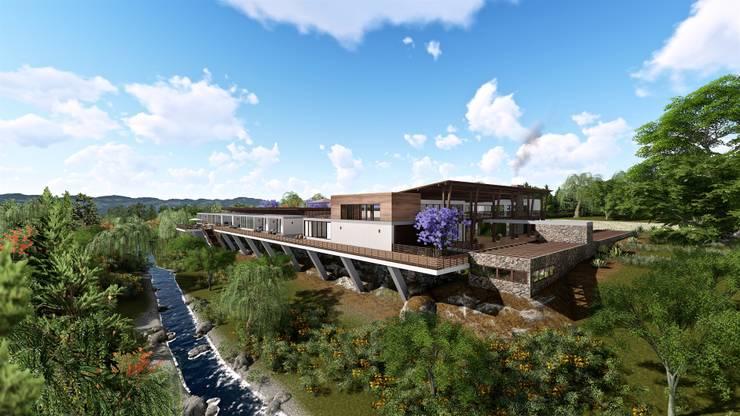 Casa de campo en Agua Blanca, Hidalgo.:  de estilo  por BIM Arquitectos S.A. de C.V.