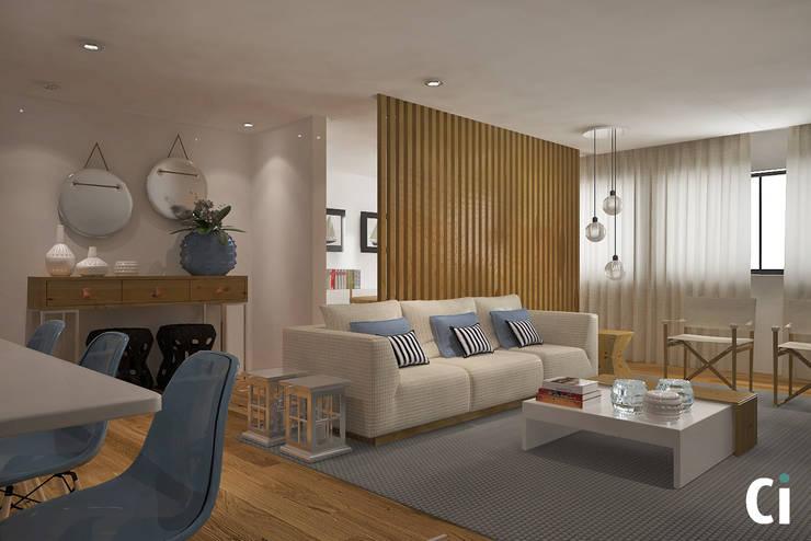 Sala de estar: Salas de estar  por Ci interior decor