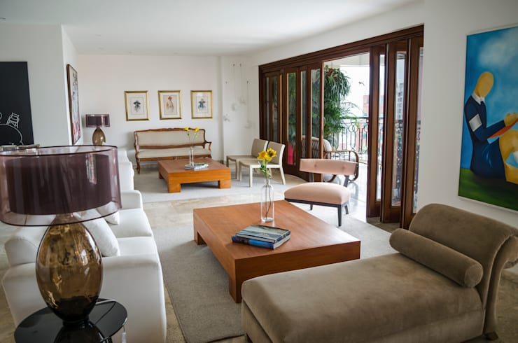 Apartamento Aristizabal - Alviar / Parte 1: Salas de estilo ecléctico por Tejero & Ángel Diseño de Interiores