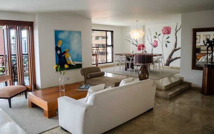Apartamento Aristizabal – Alviar / Parte 1 Salas de estilo ecléctico de Tejero & Ángel Diseño de Interiores Ecléctico
