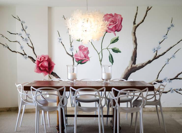 Apartamento Aristizabal - Alviar / Parte 1: Comedores de estilo ecléctico por Tejero & Ángel Diseño de Interiores