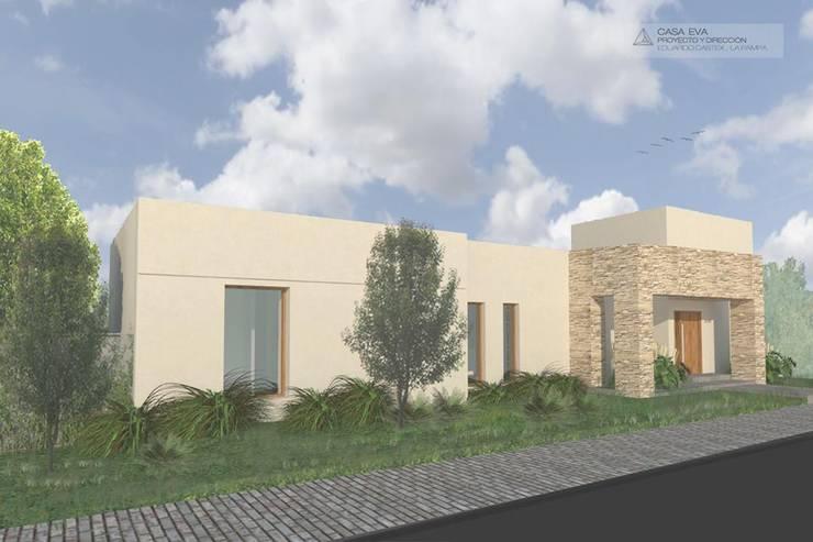 Casa Eva: Casas unifamiliares de estilo  por Borio Arquitectura y Diseño,
