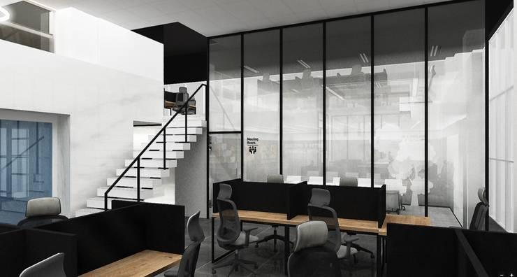사무실 인테리어 B: 아임커뮤니케이션즈의  사무실
