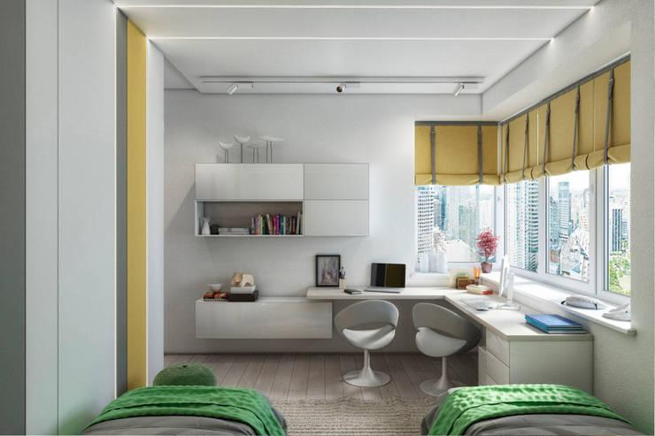 غرفة نوم مراهقين  تنفيذ Дизайн Мира