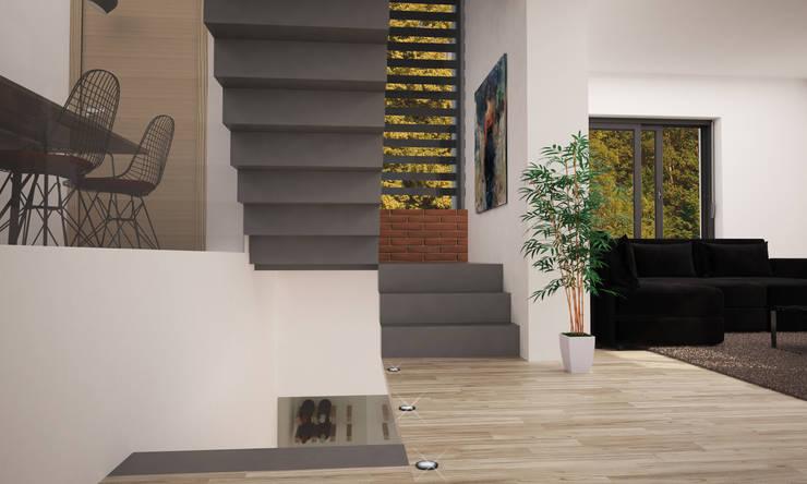 entrata: Ingresso & Corridoio in stile  di LAB16 architettura&design
