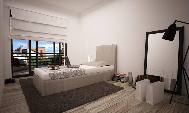 VILLA PIOSSASCO: Camera da letto in stile  di LAB16 architettura&design