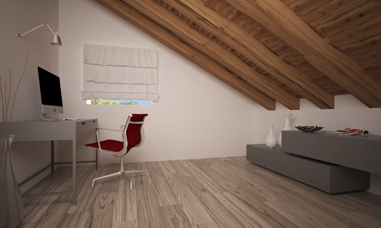 VILLA PIOSSASCO: Studio in stile  di LAB16 architettura&design