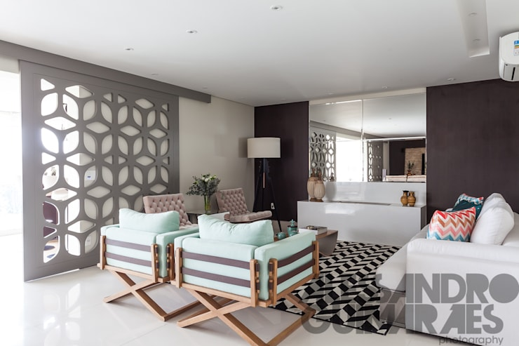modern Living room by MC3 ARQUITETURA . PAISAGISMO . INTERIORES