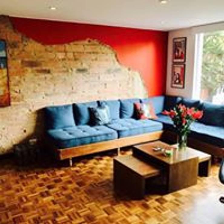Apartamento BogotaBogota: Salas de estilo  por Heritage Design Group