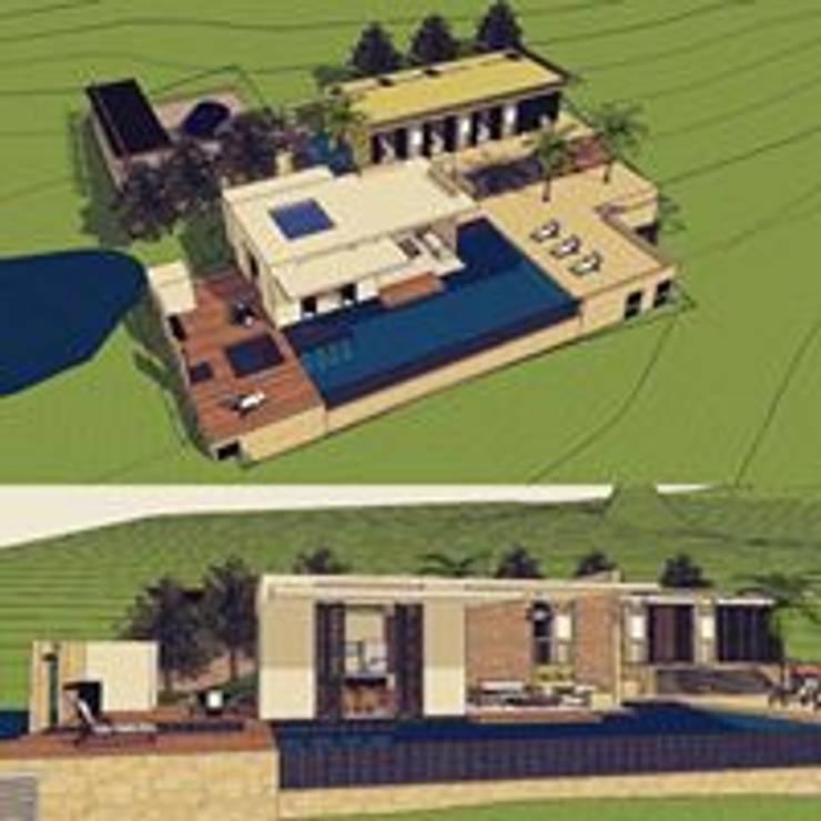 Casa Anapoima: Casas de estilo moderno por Heritage Design Group