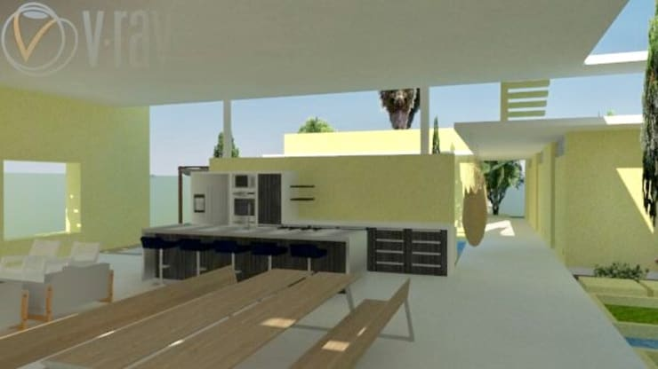 Casa Barranquilla: Casas de estilo minimalista por Heritage Design Group