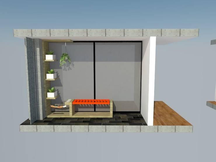 Balcone, Veranda & Terrazzo in stile  di Heritage Design Group