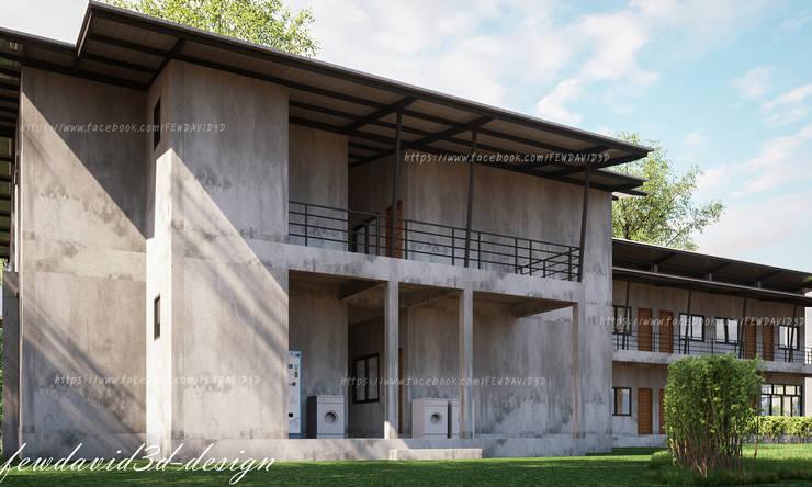 งานออกแบบ หอพัก2ชั้น อ.สามโคก จ.ปทุมธานี/คุณฉวีวรรณ ไวทยาชีวะ:   by fewdavid3d-design