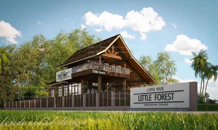 งานออกแบบ ร้านกาแฟ Little Forest Coffee House at แก่งกระจาน/คุณศุภรดา ชลาชีพ:   by fewdavid3d-design