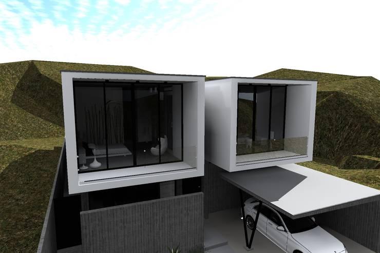 "CASA ""SIAMESA""  Vista Superior: Casas unifamiliares de estilo  por Dakota Austral"