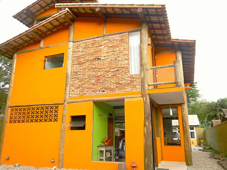 Rustic style houses by VN Arquitetura Rustic Wood Wood effect