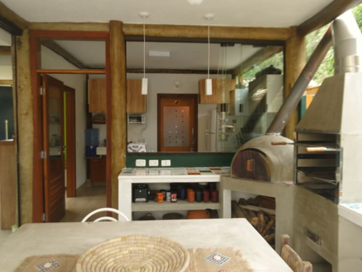 Rustic style kitchen by VN Arquitetura Rustic Wood Wood effect