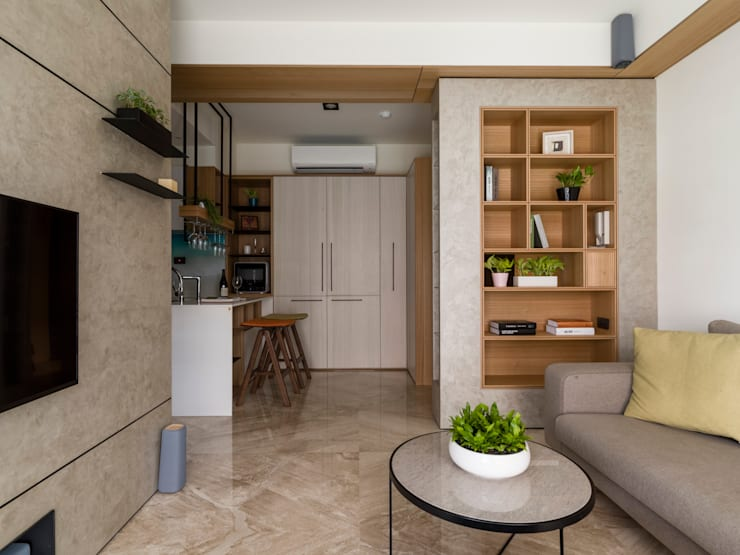 Living room by 楊允幀空間設計