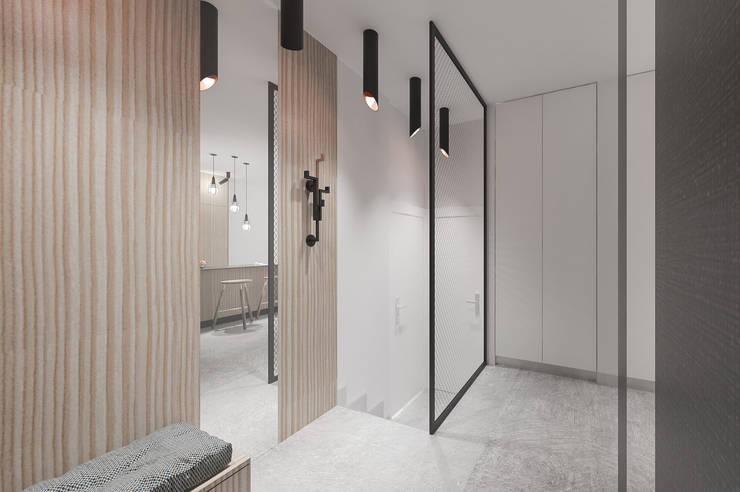 Modern corridor, hallway & stairs by deco chata Modern