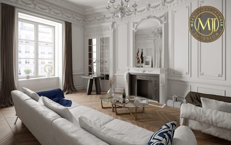 MJI Interior 1: asian Living room by Interior Styling by MJI